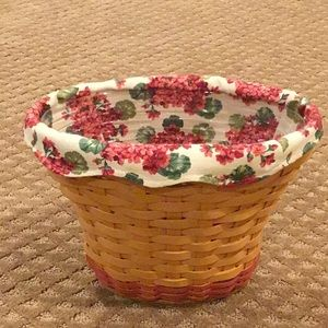 Longaberger Geranium Basket 2002 May Series
